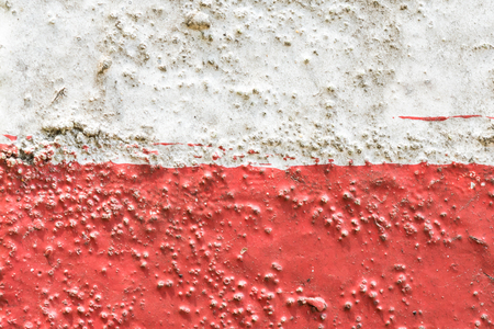 red and white concrete surface