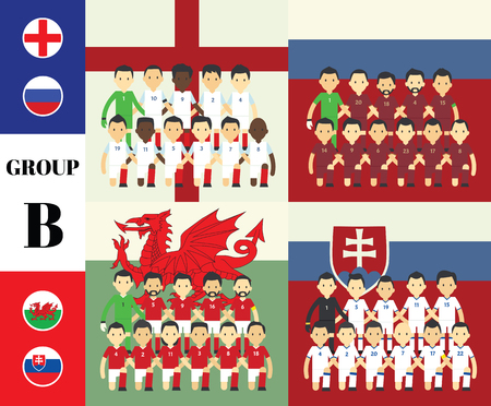 vecter: Players with flags GROUP B