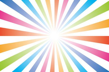 背景の壁紙虹、虹色、ラジアル、7 色、販売、プロモーション、広告、広告、商業  イラスト・ベクター素材