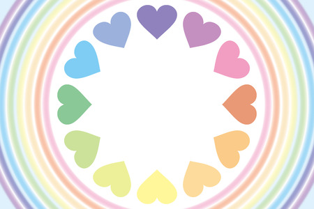 Background wallpaper  a rainbow, a heart rainbow, rainbow color, 7 color, a heart pattern, and a pastel color