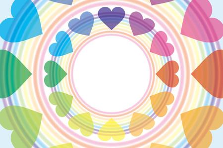 Background wallpaper  a rainbow, a heart rainbow, rainbow color, 7 color, a heart pattern, and a pastel color Banco de Imagens - 28966314