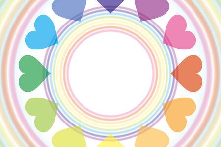 Background wallpaper  a rainbow, a heart rainbow, rainbow color, 7 color, a heart pattern, and a pastel color Banco de Imagens - 28966318
