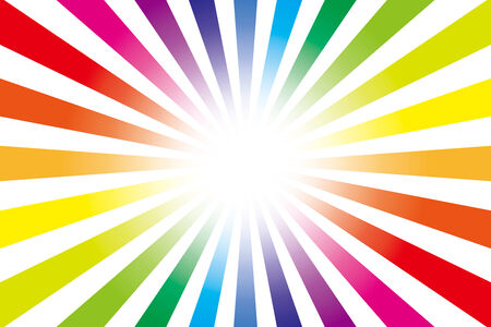 Background material wallpaper   Rainbow, radial   Vector
