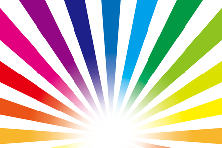Background material wallpaper   Rainbow, radial