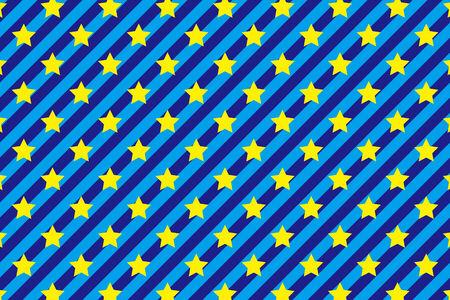 stripe pattern: Sfondo materiale modello carta da parati a righe, strisce, stelle, stella, colorato Vettoriali