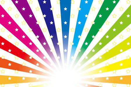 Background material wallpaper   Rainbow, rainbow colors, seven colors, radial, vortex   Vector