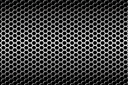 Background material wallpaper   Perforated metal, hexagonal, mesh, grid, metal