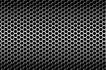 Background material wallpaper   Perforated metal, hexagonal, mesh, grid, metal Zdjęcie Seryjne - 29822826