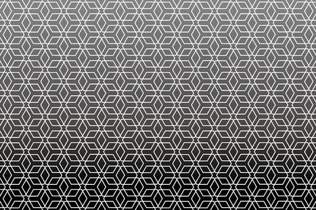 Background material wallpaper   Japanese style Pattern, hexagonal pattern, traditional pattern   Stock Illustratie