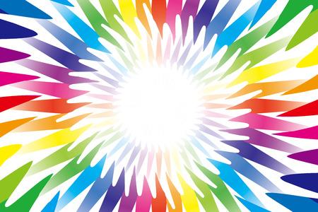 medal like: Background material wallpaper    Radiation, radial, rainbow color, seven colors, medal, medal-like, medal type,   Illustration