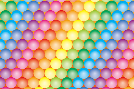 Background Material wallpaper   Color ball which has been paved, rainbow, rainbow colors, seven colors   Illustration