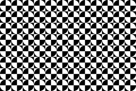 monotone: Background Material wallpaper   Geometric pattern monotone pattern of square and circle  Illustration