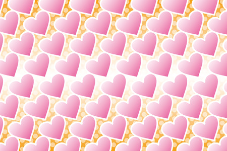 cuore disegno: Background Material wallpaper  (pattern of polka dots and heart, heart, heart design, polka dot, polka dots)  Vettoriali
