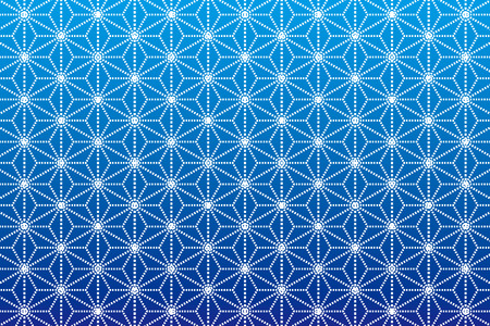 Background Material wallpaper  (A pattern Japanese style of hemp leaves) Ilustracja