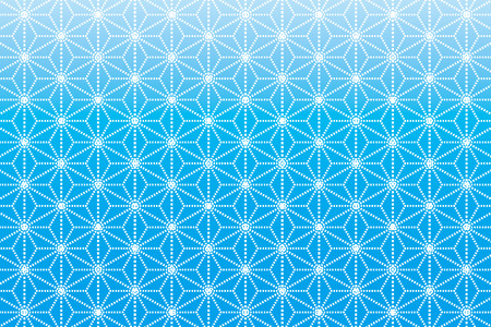 hemp: Background Material wallpaper  (A pattern Japanese style of hemp leaves) Illustration