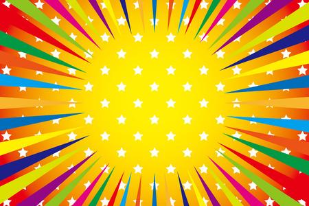 Background Material wallpaper  (Radiation of iridescent stars, lively spirit) Çizim
