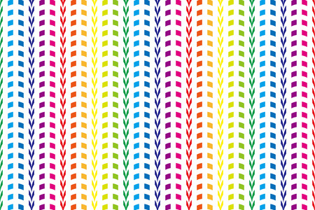arched: Background Material wallpaper (Continuous arch of rainbow-colored tiles) Illustration