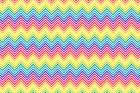 Background Material wallpaper (Rainbow-colored stripes, zigzags, wave) Vector