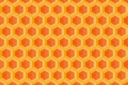 Background material wallpaper (Hexagonal block pattern)  イラスト・ベクター素材