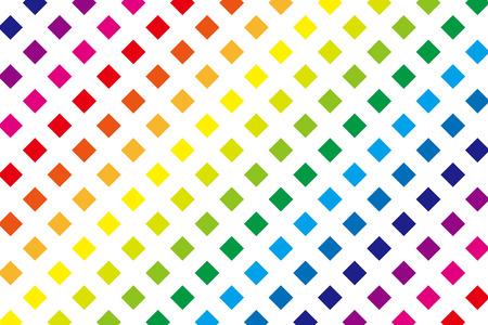 color block: Background material wallpaper (A set of rainbow color block) Illustration