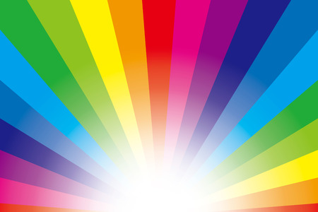 Background material wallpaper (Radiation of stardust and rainbow colors) Vector
