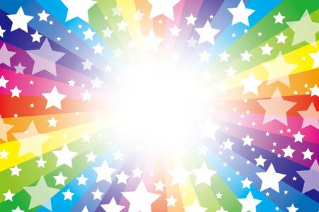Achtergrondmateriaal wallpaper (Straling van sterrenstof en kleuren van de regenboog) Stock Illustratie