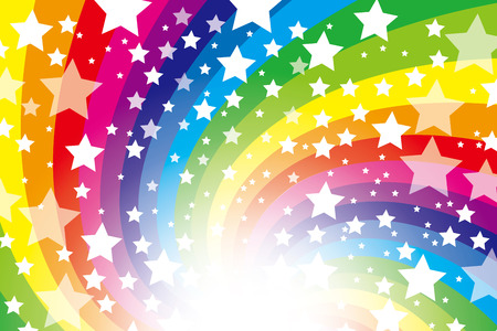 Background material wallpaper (Radiation of stardust and rainbow colors)