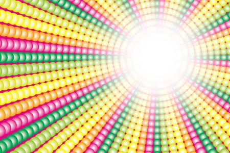 (虹色の球の放射、虹、虹の色、7 色) の背景壁紙素材