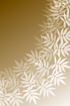 the sprouting: Background material wallpaper (Pattern of young leaves, green leaves, early summer) Illustration