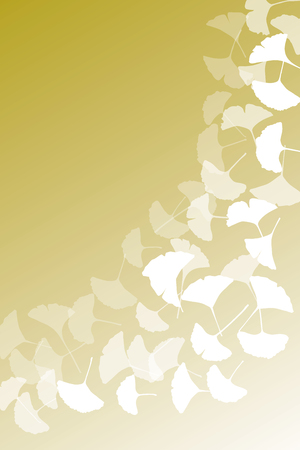 Background material wallpaper (, Autumn leaves, deciduous, fall, ginkgo, maple, maple) Vector