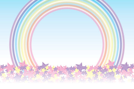 children of heaven: Background material wallpaper (Piled up stars and rainbow, stardust, sparkling stars, star pattern, radial, star, rainbow, rainbow, rainbow colors, seven colors)