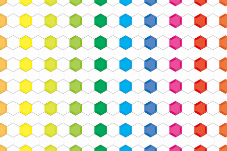 Background material wallpaper, rainbow colors, hexagonal, tile, advertising, publicity, commercial, promotional, sales promotion, avatar, profile, flyers, posters, icon