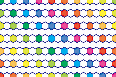 advertising material: Background material wallpaper, rainbow colors, hexagonal, tile, advertising, publicity, commercial, promotional, sales promotion, avatar, profile, flyers, posters, icon
