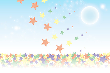 advertising material: Background material wallpaper, it rained and it piled up star, night sky, starry sky, galaxies, nebulae, sky, stardust, star pattern, sparkling stars, glitter, star, colorful, advertising, publicity, sales promotion, CM, commercial, promotional