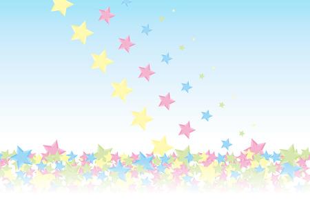 材料の背景の壁紙、雨が降った、スター、夜の空、星空、銀河、星雲、空、スターダスト、星のパターン、輝く星、キラキラ、スター、カラフルな  イラスト・ベクター素材