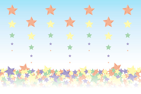 Background material wallpaper, it rained and it piled up star, night sky, starry sky, galaxies, nebulae, sky, stardust, star pattern, sparkling stars, glitter, star, colorful, advertising, publicity, sales promotion, CM, commercial, promotional Vector