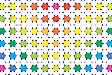 publicity: Fondos de escritorio material de fondo, diamante hexagonal y puntos de sutura, arco iris, colores del arco iris, siete colores, hex�gono, posters, CM, panal, folletos, promocional, publicidad, publicidad, comercial