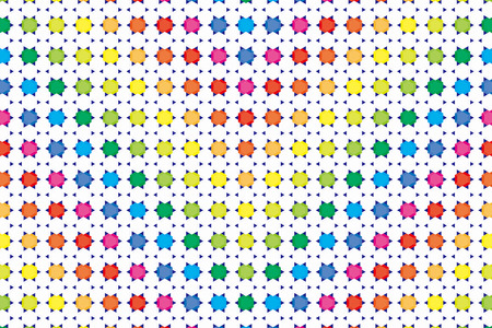 Background material wallpaper, hexagonal diamond and stitches, rainbow, rainbow colors, seven colors, hexagon, posters, CM, honeycomb, flyers, promotional, advertising, publicity, commercial Vector