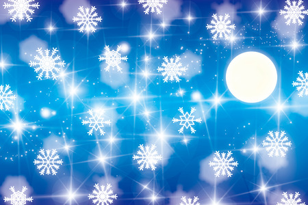 Background material wallpaper, snow crystals and Tenkawa, snow, crystal, snow, winter, snow crystal, nebula, star, stardust, Milky Way, the galaxy photo