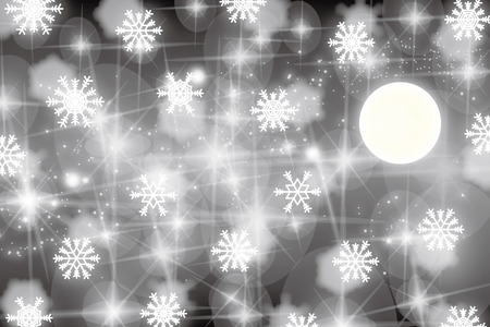 Background material wallpaper, snow crystals and Tenkawa, snow, crystal, snow, winter, snow crystal, nebula, star, stardust, Milky Way, the galaxy Banco de Imagens