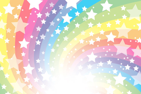 Background material wallpaper, rainbow, rainbow, rainbow, rainbow, sparkling stars, glitter, star, star, radial, party, colorful, happy, happiness, joy, heaven Banco de Imagens - 34607787
