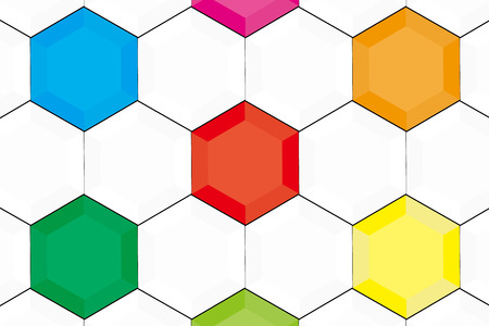 world  hexagon: Background material wallpaper, hexagon, hexagonal, honeycomb structure, honeycomb, sport, ball, soccer, football, World Cup, soccer ball Illustration