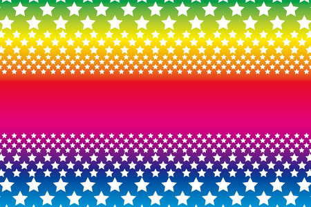 Background material wallpaper, a large number of star, rainbow, rainbow colors, seven colors, star pattern, stardust, galaxy, the Milky Way, starry sky, name tag, name card, copy space, text space Vector