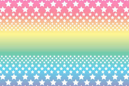 standby: Background material wallpaper, a large number of star, rainbow, rainbow colors, seven colors, star pattern, stardust, galaxy, the Milky Way, starry sky, name tag, name card, copy space, text space Illustration