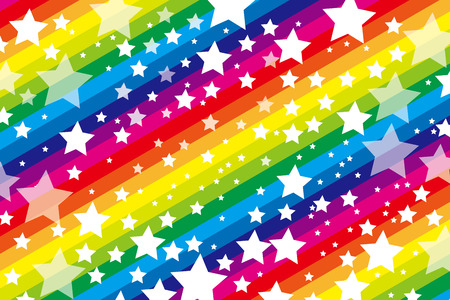 sns: Background material wallpaper, galaxy, starry sky, stripes, stripes people, stripe, star, stardust, Milky Way, seven colors, rainbow colors, rainbow, seven colors, party, decoration Illustration