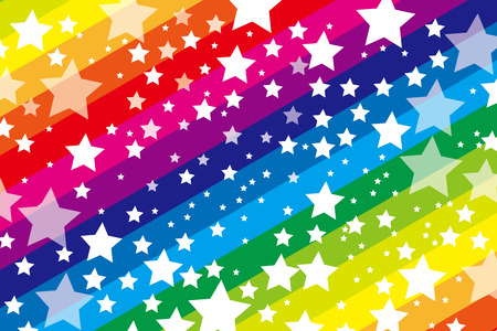 Background material wallpaper, galaxy, starry sky, stripes, stripes people, stripe, star, stardust, Milky Way, seven colors, rainbow colors, rainbow, seven colors, party, decoration Vector