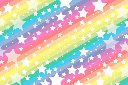 Background material wallpaper, galaxy, starry sky, stripes, stripes people, stripe, star, stardust, Milky Way, seven colors, rainbow colors, rainbow, seven colors, party, decoration Ilustração