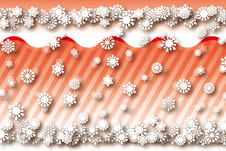 Background material wallpaper, snow and snow crystals, snow, winter, ice, three-dimensional, 3D, 3-dimensional, perspective, stripes Banco de Imagens