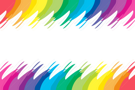 Background material wallpaper, rainbow colors, rainbow, character space, name card, price card, copy space, text space, white space Vector