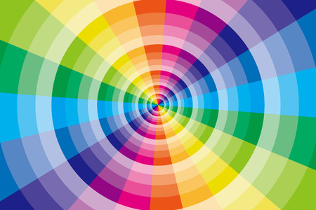 screensavers: Background, material, wallpaper, rainbow, radial, colorful, radiation, circle, warp, space, different dimension, four-dimensional, different space, subspace Illustration